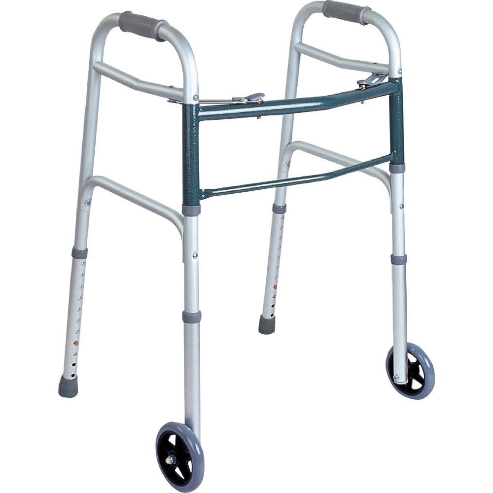 BodyMed Walker, 2-Button, Folding Walker for Seniors and Support After Surgery or Injury