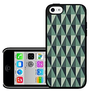 MMZ DIY PHONE CASEGray and Greenish Diamond Pattern Design Hard Snap on Cell Phone Case Cover iPhone (5c)