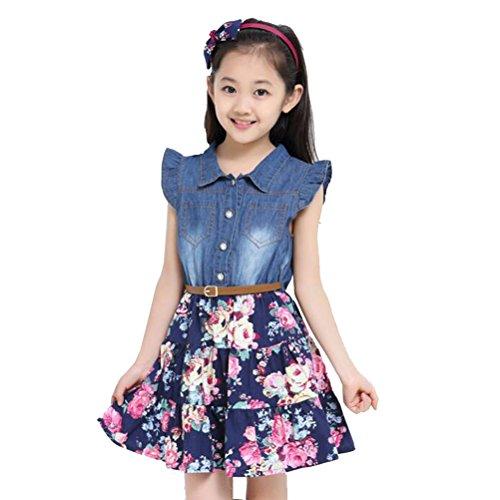 Yober Little Girls Spring Summer Dress D...