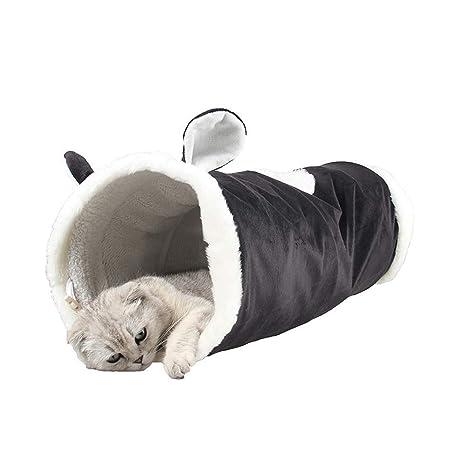 Pet Elf Túnel para Gato con luz Flotante, Juguete Esponjoso para Gato, túnel para