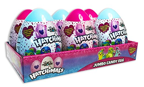 Jumbo Candy Filled Hatchimal Eggs, 4.23 oz, Pack of 6 (Best Chocolate Easter Eggs 2019)