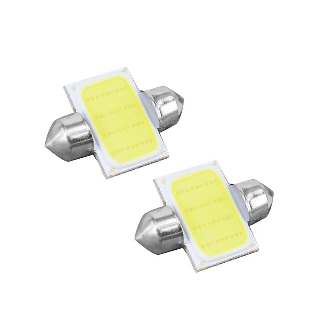 Connoworld Clearance Sale 2Pcs 12V COB LED White Interior Light Lamp Car Caravan Motorhome Reading Lights 31mm by Connoworld (Image #8)