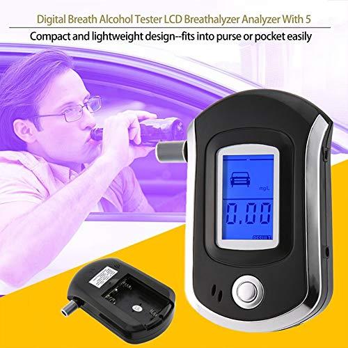 SEN Test del rilevatore di etilometro Digitale per respiratore ad alito Tascabile Nero