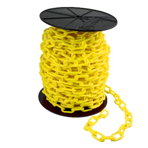 Mr. Chain Reel Plastic Barrier Chain, 1.5'' Diameter, 200' Length, Yellow