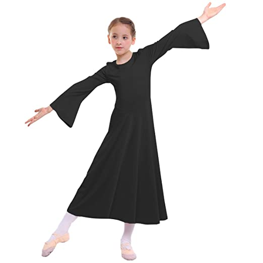 Amazon.com: MYRISAM - Bata de baile para niñas, color liso ...