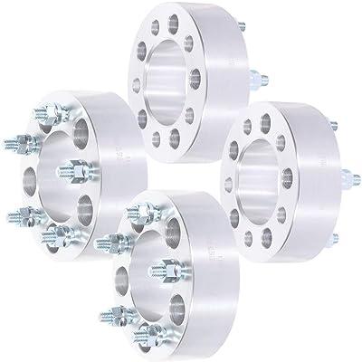 ROADFAR 4X 50mm 5 Lug Wheel spacers 2 inch 5x4.75 to 5x4.75 12x1.5 87.1mm fits for Cadillac CTS Cadillac XLR Chevrolet Camaro: Automotive