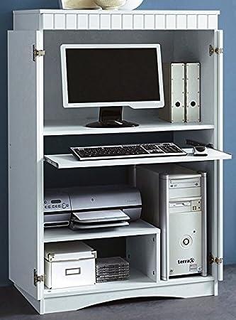 Büroschrank Computerschrank weiss mdf PC-Schrank weiß dekor - 447 ...