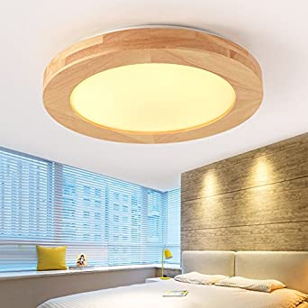 GQLB Nordic Schlafzimmer Lampen 24W creative einfache Holz ...
