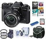 Fujifilm X-T20 Mirrorless Digital Camera, w/XC 16-50mm f/3.5-5.6 Lens Black, 24.3MP, 4K UHD Video, Bundle with Camera Bag + Filter Kit + PC Software Kit + 16GB SD Card + Cleaning Kit + Card Reader