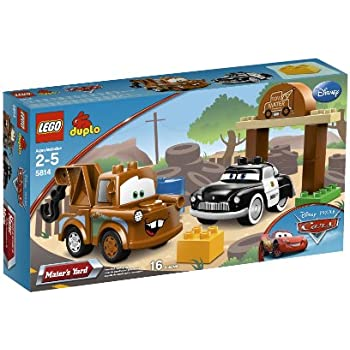 Amazon.com: LEGO DUPLO Cars Mater's Yard 5814: Toys & Games