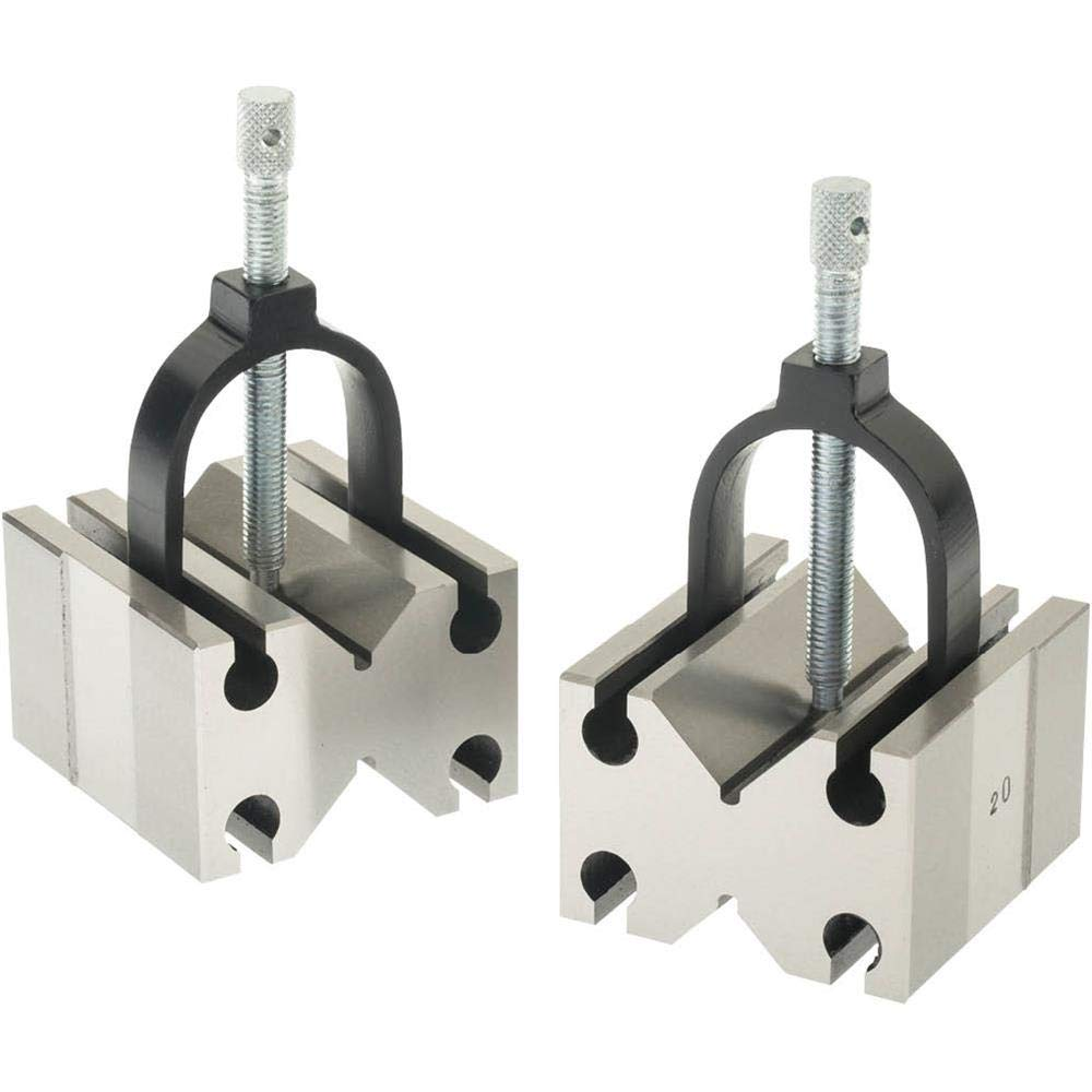 Grizzly H5612 V-Block Pair with clamps Side Use