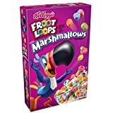 Kellogg's Froot Loops Breakfast Cereal with Fruity Shaped Marshmallows, Low Fat, 12.6 oz Box(Pack of 4)