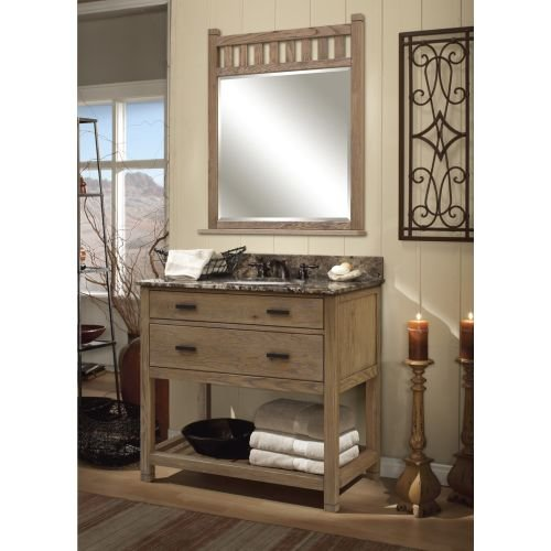 "60%OFF Sagehill Designs TB4821D Toby 48"" Vanity Cabinet Only With Four Drawers, Weathered Oak"