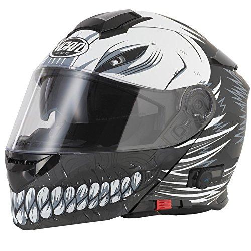Vcan V271Full Face casque de moto Bluetooth 5–creux/noir mat