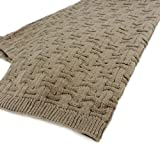"Designer scarf ""Zen""taupe brown braided."