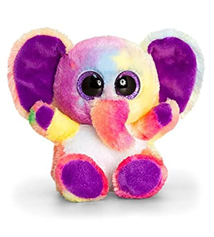 Keel Toys SF0440 15 cm Animotsu Rainbow Elephant Plush Toy by Keel Toys