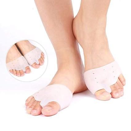 Gel suave mitad-dedo del pie Metatarsal cojines de apoyo protector de calzado mangas Gel