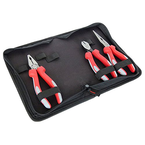 800025 Plier Set 3 Pcs Polished with Comfortable Multi Component Handles by VBW