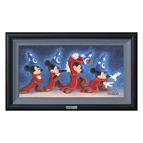 """The Sorcerer's Spell"" Framed Limited Edition Canvas by Michelle St.Laurent from the Disney Silver Series; with COA"