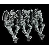 PTC 5 Inch Gargoyle See, Hear, Speak No Evil Shelf Sitters Statue Figurine