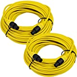 Seismic Audio TW12S100Yellow-Pair Pair of 12 Gauge 100-Feet Yellow Speakon to Speakon Speaker Cable