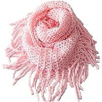 EUBUY Fashionable Autumn Winter Kids Toddler Knit Warmer Tassels Neck Scarf Circle Loop Round Scarves Shawl