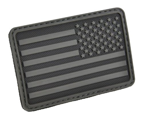 HAZARD US Flag Rubber 3D Velcro Morale Patch, Right Arm, ()