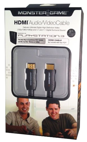 Monster Game Standard Speed HDMI Cable for Playstation 3
