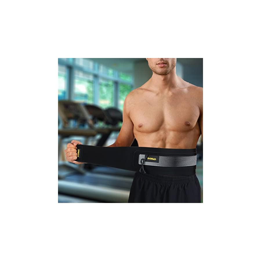 DOMAS Ab Belt Abs Stimulator Electronic Muscle Stimulator Toning Belt for Men and Women
