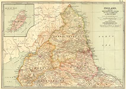 Map Of England Durham.England North East Northumberland Durham Cumbria Isle Of Man
