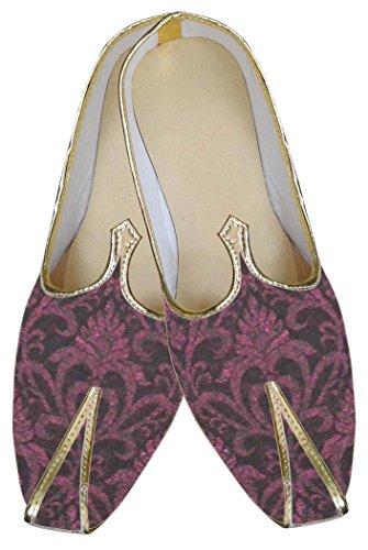INMONARCH Mens Burgandy Ethnic Wedding Shoes MJ0134 OBGh3o