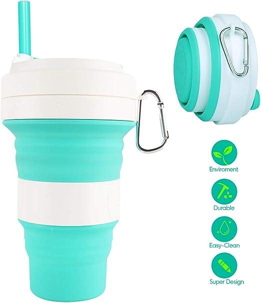 Taza Plegable Vaso Plegable Silicona - Botella Agua Plegable 3 ...