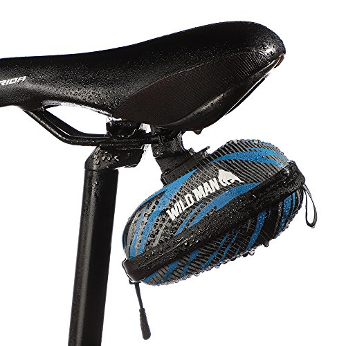 - Iapetus Bike Bag Waterproof Bike Seat Pack & MTB Cycling Eva Bag Saddle with Muti-Colors,Big Enough for Bicycle Repair Tool,Reflective Material Ensures Safety (Blue)