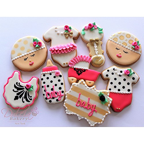 Amazon.com: Baby Shower Cookie Cutter Set   5 Piece   Onesie, Bib, Rattle,  Bottle, And Baby Carriage   Ann Clark Cookie Cutters   US Tin Plated Steel:  ...