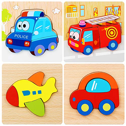 Kakasi Toddler Puzzles 3 Year Old, Jigsaw Puzzles for Toddlers Wooden Puzzles for Age 1 2 3 Baby Child Toddler Puzzle Wooden Puzzles for Toddlers Best Birthday Holiday Party Gift for 9-14 Month Baby (Best Toys For 14 Month Old Girl)