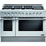 DCS RDV486GLN Professional 48' Stainless Steel Dual Fuel Sealed Burner Double Oven Range - Convection (Renewed)