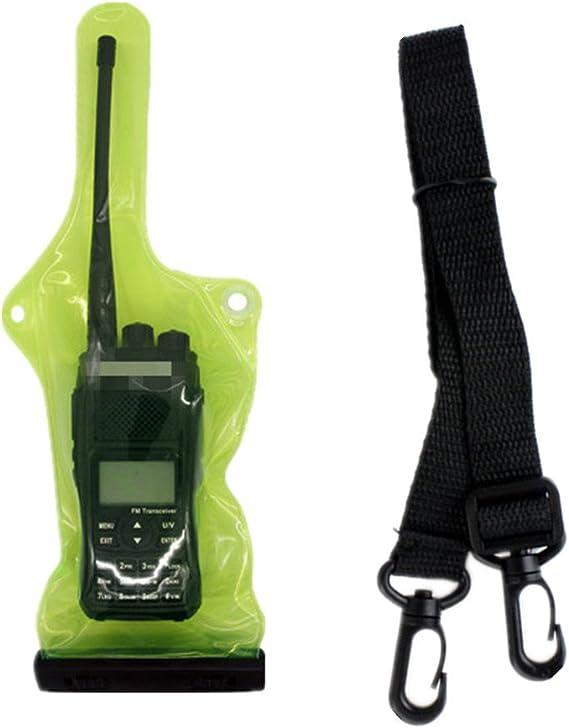 5 Inch x 13.8 Inch abcGoodefg/® Two Way Radio Waterproof Rainproof Bag Case Pouch for Motorola Kenwood Midland