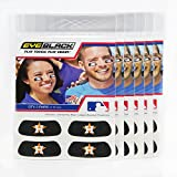 (24 Strips) Eye Black - Houston Astros MLB Eye Black Anti Glare Strips, Great for Fans & Athletes on Game Day