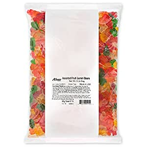 Albanese Candy, Assorted Fruit Gummi Bears, 5-pound Bag, Pack of 4