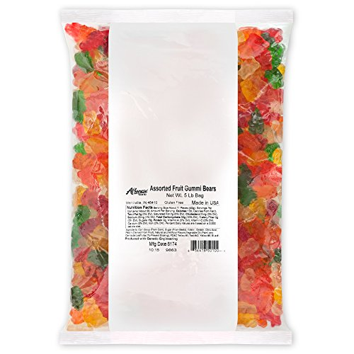 Albanese Candy, Mango Gummi Bears, 5 Pound Bag