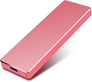 External Hard Drive Type-C USB 3.1 Portable 1TB 2TB Hard Drive External HDD Compatible for Mac Laptop and PC (2tb, red)