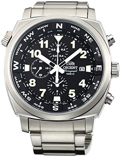ORIENT Sporty Quartz Chronograph 100M Pilot Watch Black TT17002B (Orient Quartz Chronograph)