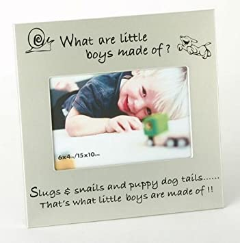 Amazon.com: What Little Boys Are Made Of... New Baby Photo Frame ...