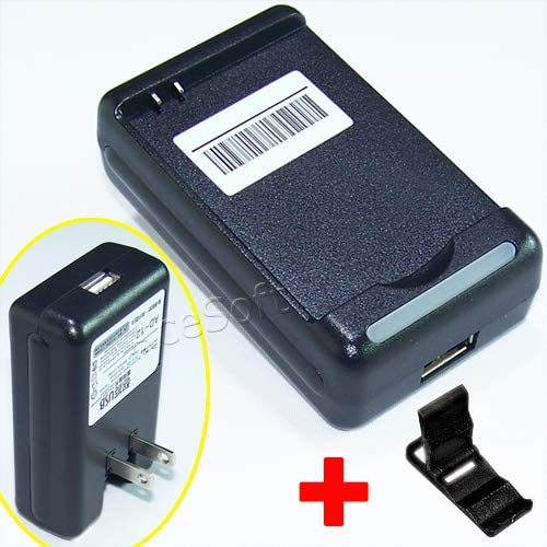 See Picture 100/% New External Travel Desktop Wall Home USB//AC Battery Charger for Samsung Galaxy S3 S III I9300 SCH-S968C Phone with Additional Valueable Accessory