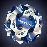 FanLampz Original Self-Assembly Lighting System for Patios, Garages, Man Caves - NFL Officially Licensed Item (Baltimore Ravens)