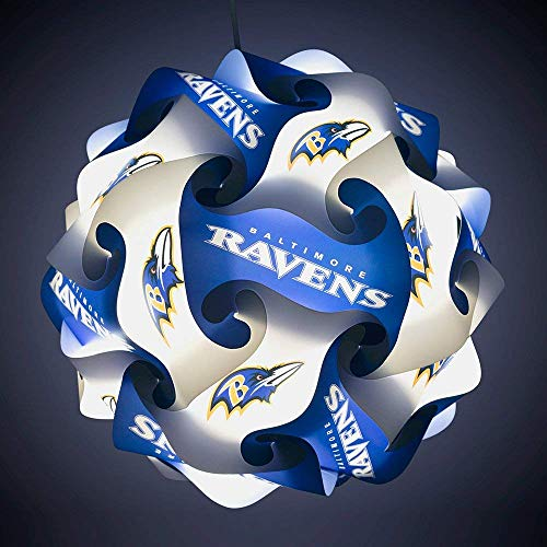 FanLampz Original Self-Assembly Lighting System for Patios, Garages, Man Caves - NFL Officially Licensed Item (Baltimore - Baltimore Night Light Ravens