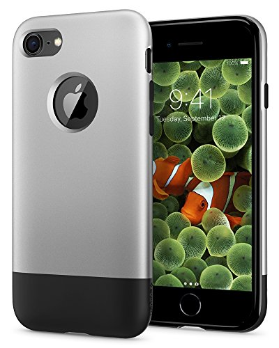 Apple Iphone Aluminum Case - Spigen Classic One [10th Anniversary Limited Edition] iPhone 8 Case with Air Cushion Technology for Apple iPhone 8 (2017) - Aluminum Gray