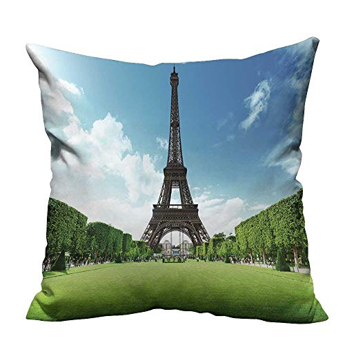 YouXianHome Decorative Throw Pillow Case Eiffel Tower in Paris,France Ideal Decoration(Double-Sided Printing) 31.5x31.5 inch ()