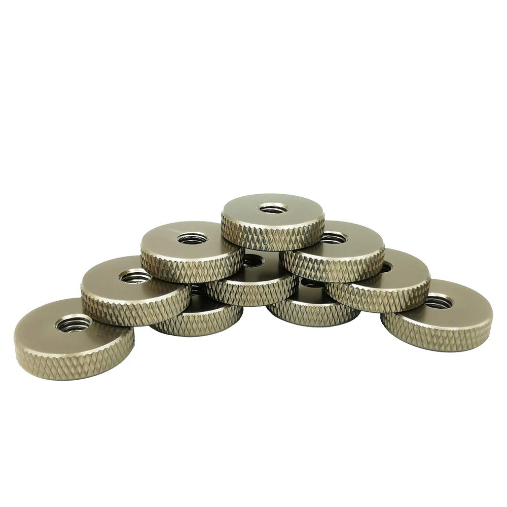 M6 Knurled Nut Gray Thumb Thin Nut Pack 20 Pieces Flat Knurled Nut