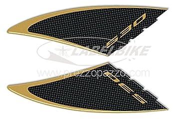 2 ADESIVI Stickers gel 3D compatibili per scooter YAMAHA Tmax 530 carbonio ergal
